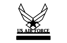 us air force Free Dxf File for CNC