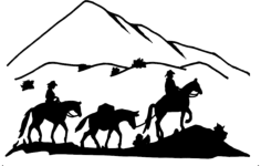 western 3 horses 2 riders Free Dxf File for CNC