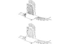 birds flying Free Dxf File for CNC
