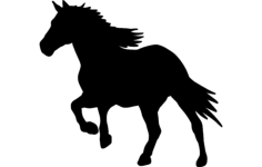 horse  running 1 Free Dxf File for CNC