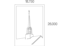 steeple Free Dxf File for CNC