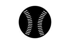 baseball Free Dxf File for CNC