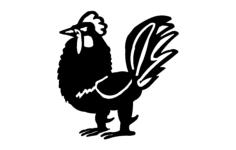 rooster vector Free Dxf File for CNC