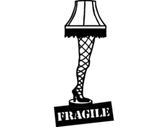 leg lamp Free Dxf File for CNC