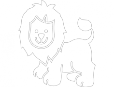 aslan02 Free Dxf File for CNC