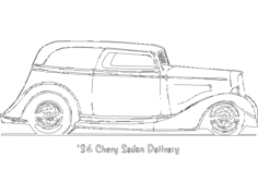 34 chevy sedan delivery Free Dxf File for CNC