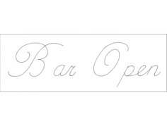 bar open Free Dxf File for CNC