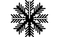 snowflake b Free Dxf File for CNC
