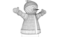happy snowman Free Dxf File for CNC