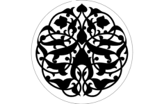 round pattern floral Free Dxf File for CNC