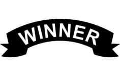 winner banner Free Dxf File for CNC