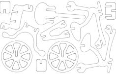 bicicleta Free Dxf File for CNC