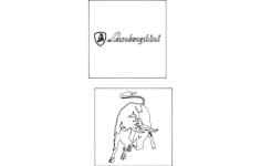 lamborghini logo Free Dxf File for CNC
