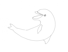 dolphin Free Dxf File for CNC