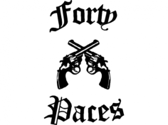 forty paces Free Dxf File for CNC