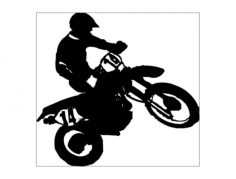 dirtbike-1 Free Dxf File for CNC