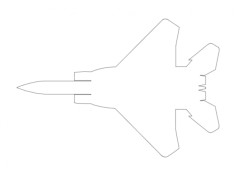 f15 jet Free Dxf File for CNC