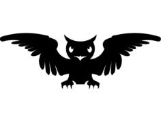 sova uhu (owl) Free Dxf File for CNC