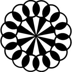 pinwheel Free Dxf File for CNC