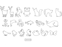 животные детские Free Dxf File for CNC