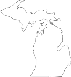 michigan outline Free Dxf File for CNC