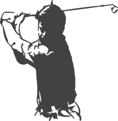 golfer Free Dxf File for CNC