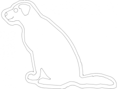 cão 1 Free Dxf File for CNC