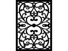 çiçek desen seperatör Free Dxf File for CNC