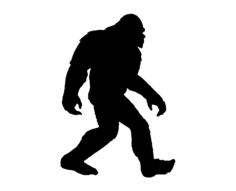 big foot Free Dxf File for CNC