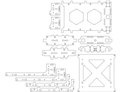 ulti v1.0 wood table Free Dxf File for CNC