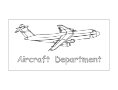 aircraft Free Dxf File for CNC