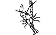 crawfish Free Dxf File for CNC