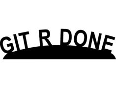 gitrdone Free Dxf File for CNC