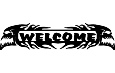 welcome skulls Free Dxf File for CNC