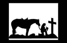horserider Free Dxf File for CNC
