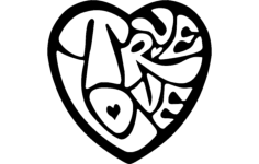 heart design Free Dxf File for CNC