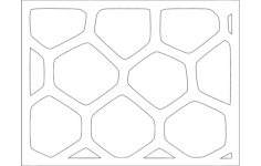 voronoi pattern Free Dxf File for CNC