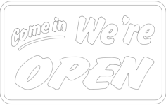 come in we are open board Free Dxf File for CNC