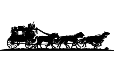stagecoach Free Dxf File for CNC