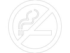 znak kurit zapresheno neu Free Dxf File for CNC