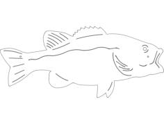 peixe grande Free Dxf File for CNC