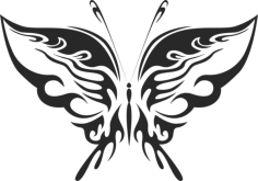 tribal butterfly vector art 19 Free Dxf File for CNC