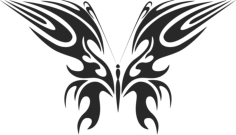 tribal butterfly vector art 49 Free Dxf File for CNC