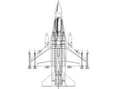 f16 topview Free Dxf File for CNC
