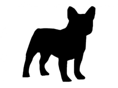 french bulldog Free Dxf File for CNC