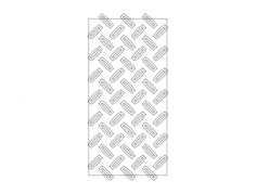 diamond plate Free Dxf File for CNC