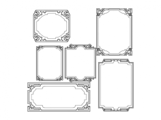 frames Free Dxf File for CNC