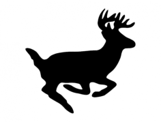 deer Free Dxf File for CNC