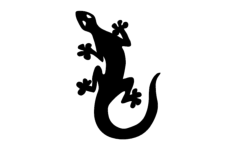 lizard silhouette Free Dxf File for CNC