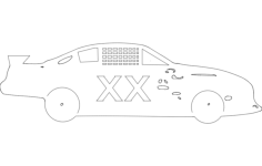 nascar Free Dxf File for CNC
